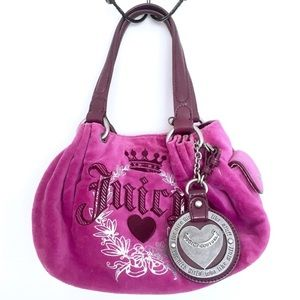 JUICY COUTURE Dark Bright Pink Purse